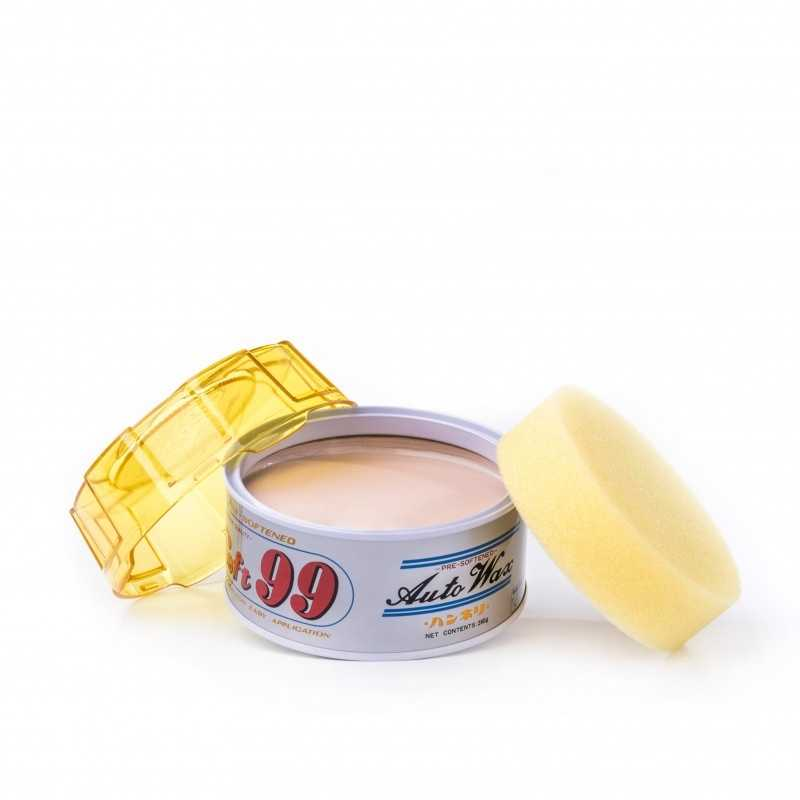 Hanneri Wax Picture White Can  280 grams , Yellow lid With Applicator Sponge