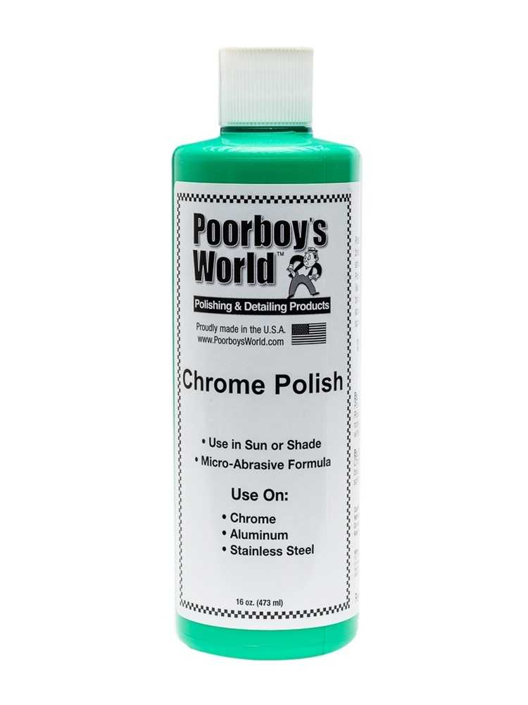 Chrome Polish is easy to use, and does not leave you with a terrible smell