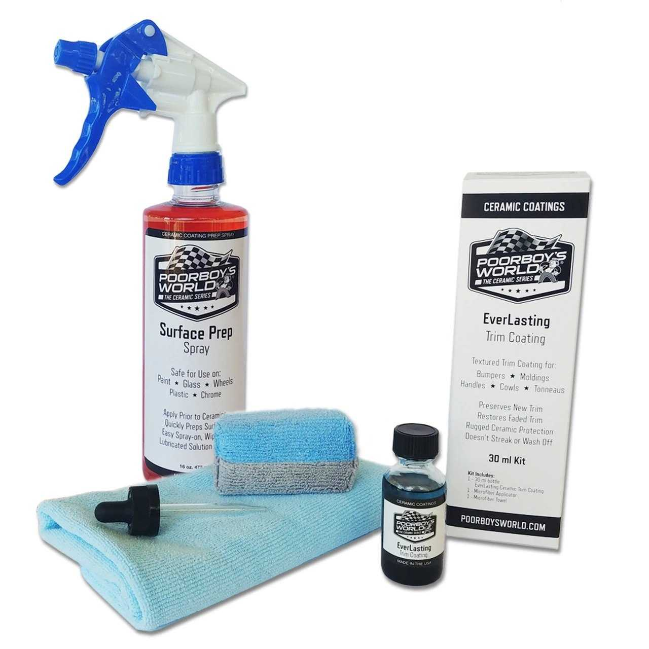 Trim Coating 30 ml Kit PLUS 16 oz Surface Prep w/ Sprayer
