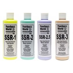 Poorboys SSR FULL Kit Inc SSR 1/2/2.5/3 Super Swirl Remover