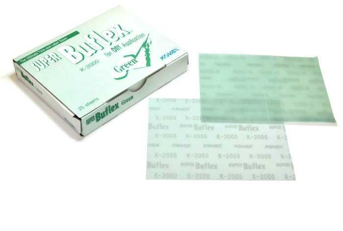Super Buflex Sheets Green 2000 Grit And Black Grit 3000  Boxes With 25 Sheets