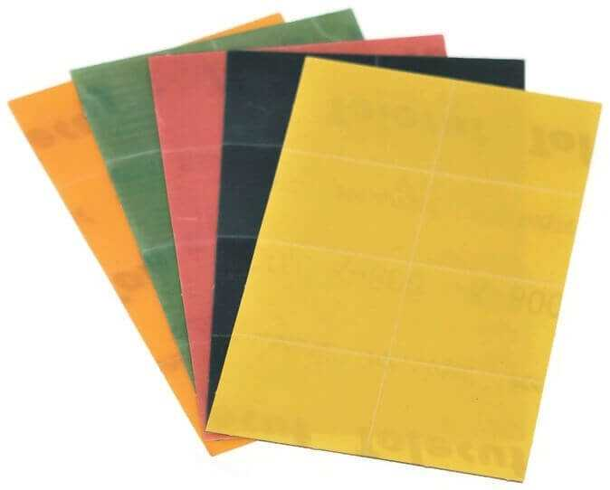 Five Sheets Orange, Green, Pink, Black, Yellow