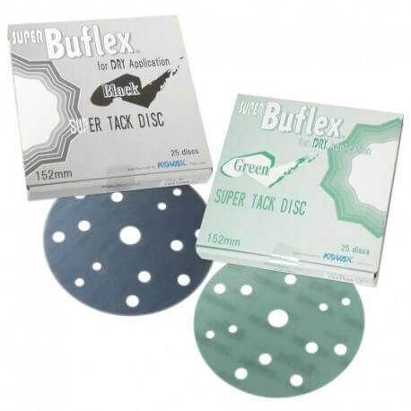 Super Buflex Discs Perfect For Finish Job, Can be used for sanding,Timber Glass, Plastics,Stones,Box including 25 Discs Black 30