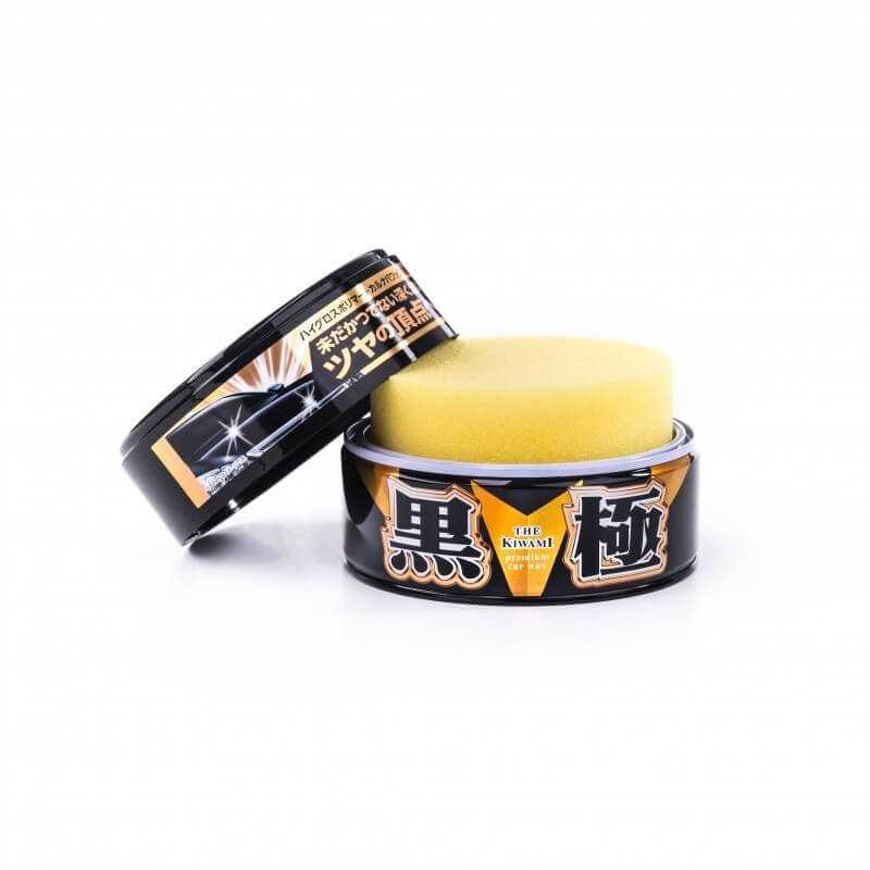 Extreme Gloss  Wax open black can yellow sponge