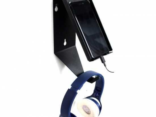 Phone and headphones holder
