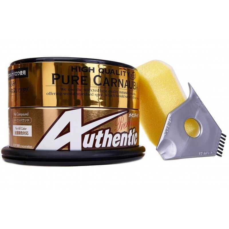 Authentic Premium Car Wax Gold Can Gold Box Yellow Sponge